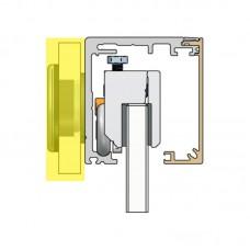 MINIMAL / Набір для монтажу на скляну стіну / F9